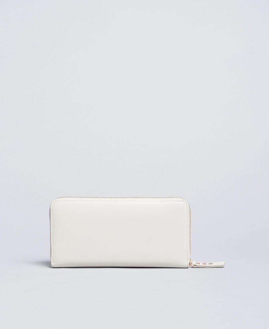 Geldbörse aus Leder mit Nieten Weiß Schnee Frau AA8PA7-02