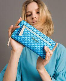 Geldbörse mit durchgängigem Schmetterlingsmuster Motiv Mikonos Hellblaue Schmetterlinge Frau 191TA7177-0S