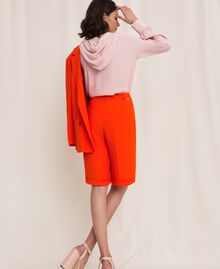 "Georgette Bermuda shorts ""Ace"" Orange Woman 201LL2NDD-03"