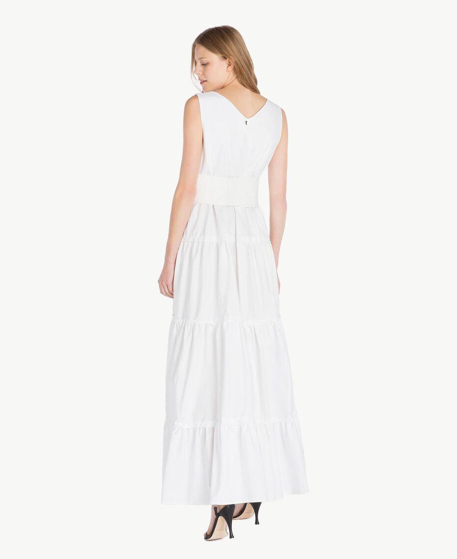 Long poplin dress White Woman TS821Z-03