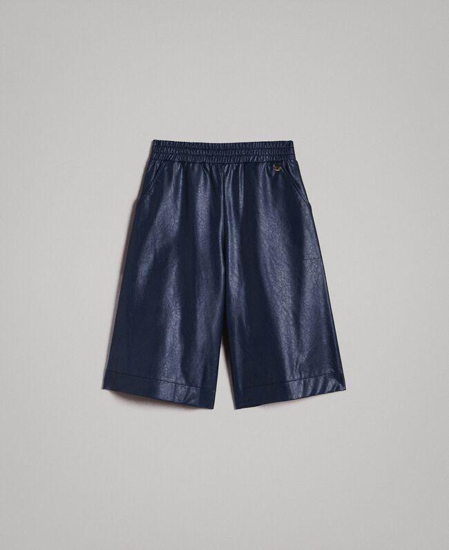 Pantalon cropped en similicuir Indigo Enfant 191GJ2100-01