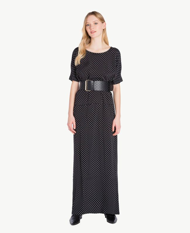 Polka dot dress Black Polka Dot Print / Ivory Woman PS8283-01