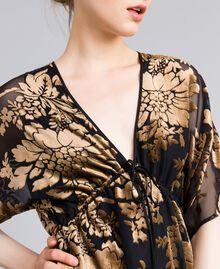 Robe longue en velours dévoré Camel Dévoré Femme PA82M4-04