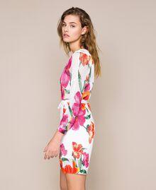 Robe imprimée à jours Imprimé Hibiscus Neige Femme 201TT3190-02