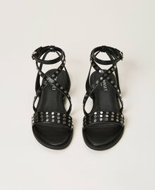Sandals with studs Black Woman 211TCT122-05