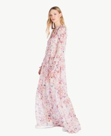 Robe longue imprimée Multicolore Fleurs Quartz Rose Femme JS82NQ-02