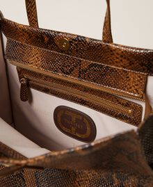 Large Twinset Bag leather shopper Leather Whips Print Woman 212TB7290-05