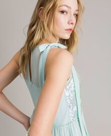 Georgette sequin top Acquamarine Woman 191TP2584-01