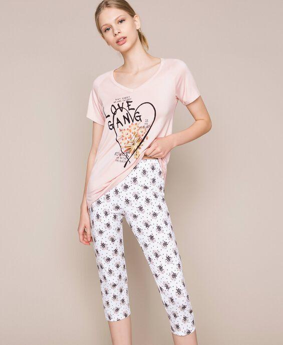 Pyjama mit Blumenprint
