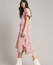 Long waistcoat with ribbons Multicolour Pink Pattern Woman 191TP3282-03