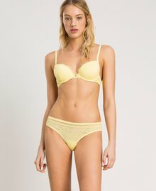 """Floral lace briefs """"Daisy Yellow"""" Woman 191LL6B66-02"""