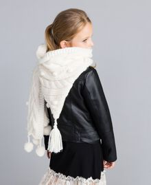 Hood-style scarf with pompom Off White Child GA8FA2-0S