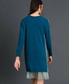 Robe avec bandes en lurex et fond de robe Bleu «Lake» Femme 192MP3100-04