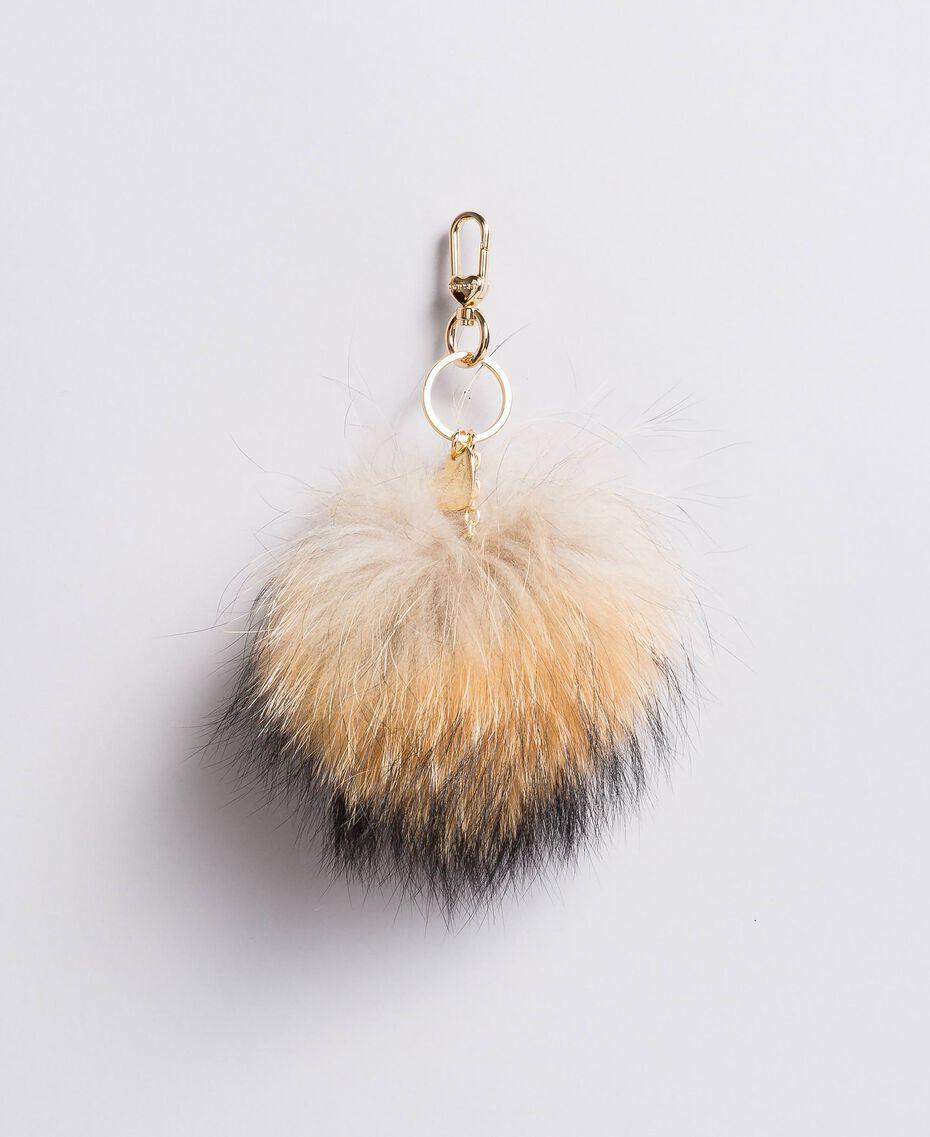 Porte-clés pompon en fourrure Chameau Femme AA8PM4-01
