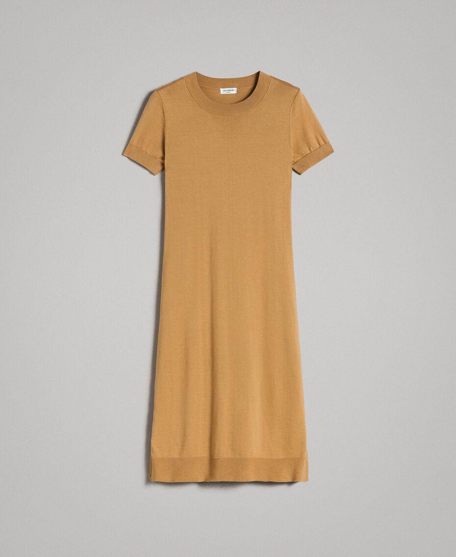 "Robe longue avec fentes Beige ""Savane"" Femme 191ST3012-0S"