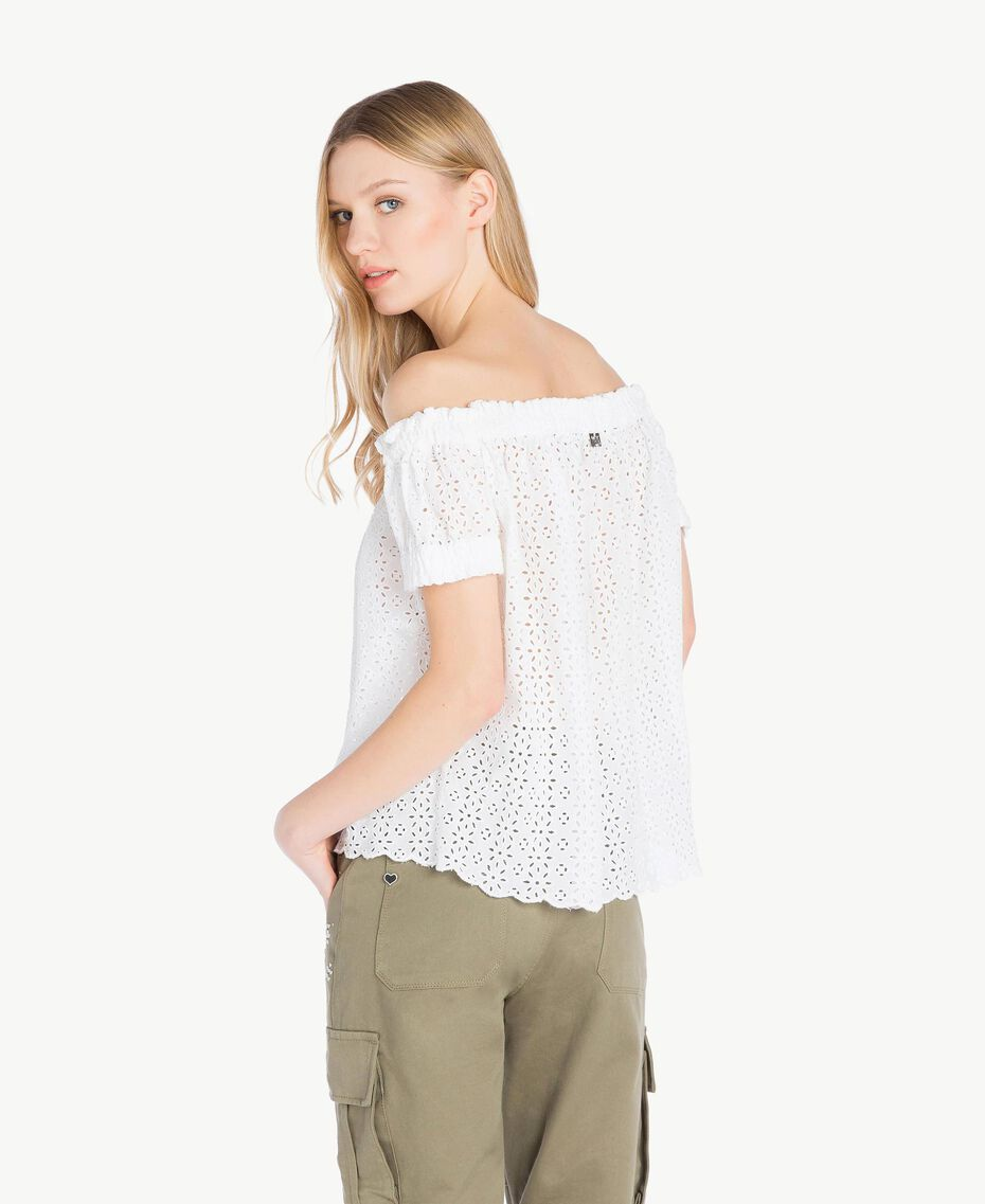 Blouse broderie anglaise Off White Femme YS82CD-03