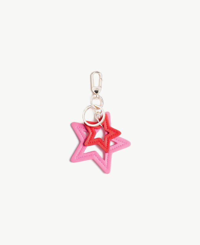 Schlüsselanhänger in Sternform Zweifarbig Knallpink / Hochrot Frau VS8PE1-01