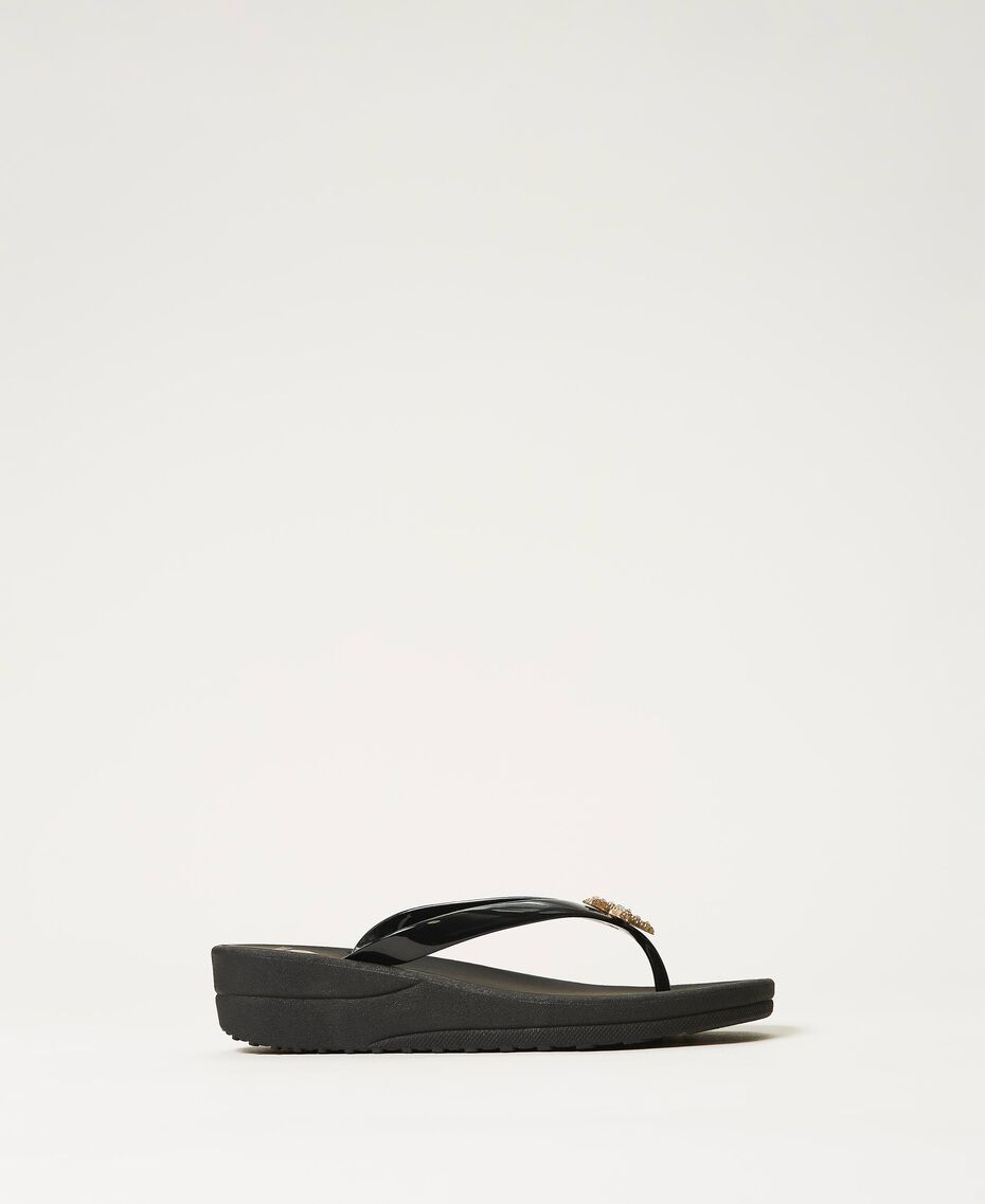 """Thong sandals with jewel detail """"Sky"""" Blue Woman 211LMPZPP-01"""