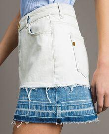 Minijupe en denim Bleu Denim Femme 191MT2433-04