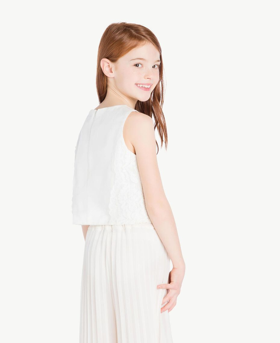 Duchess satin top Pale Cream Child GS8LDB-03