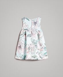 "Floral duchesse dress ""Water"" Light Blue Floral Print Child 191GB2QN0-0S"