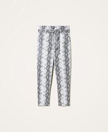 Animal print faux leather trousers Walnut / Tobacco Snakeskin Print Woman 202TT2225-0S