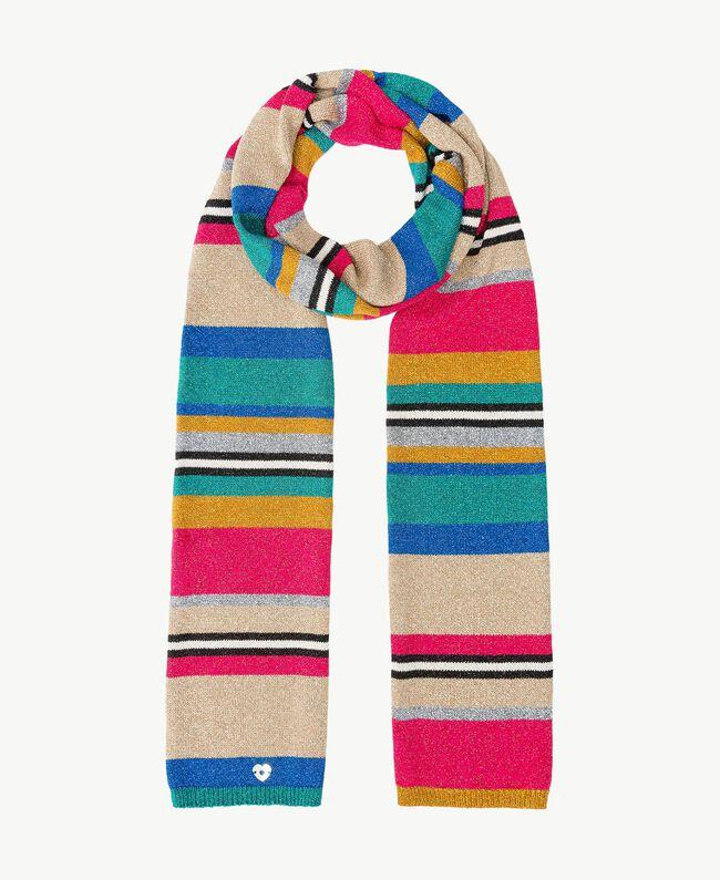 Schal mit Lurex Multicolor-Lurexstreifen Frau TS8F3T-01
