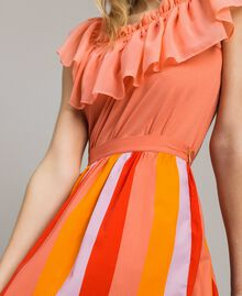 Multicolour striped poplin skirt Multicolour Grenadine Print Woman 191TT2413-04
