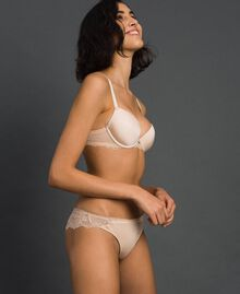 "Lace Brazilian briefs ""Nuditè"" Beige Woman 192LL6CXX-02"