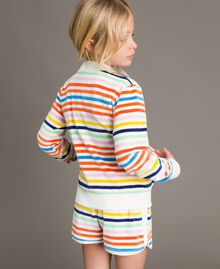 Sweat shirt à rayures multicolores Multicolore à Rayures Enfant 191GJ2223-03