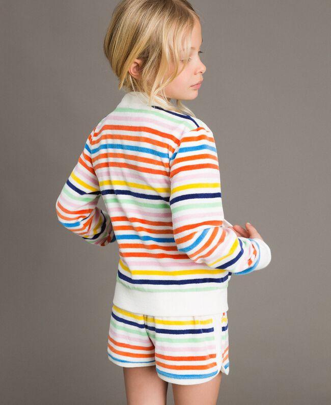 Sweat shirt à rayures multicolores Multicolore à Rayures Enfant 191GJ2223-03