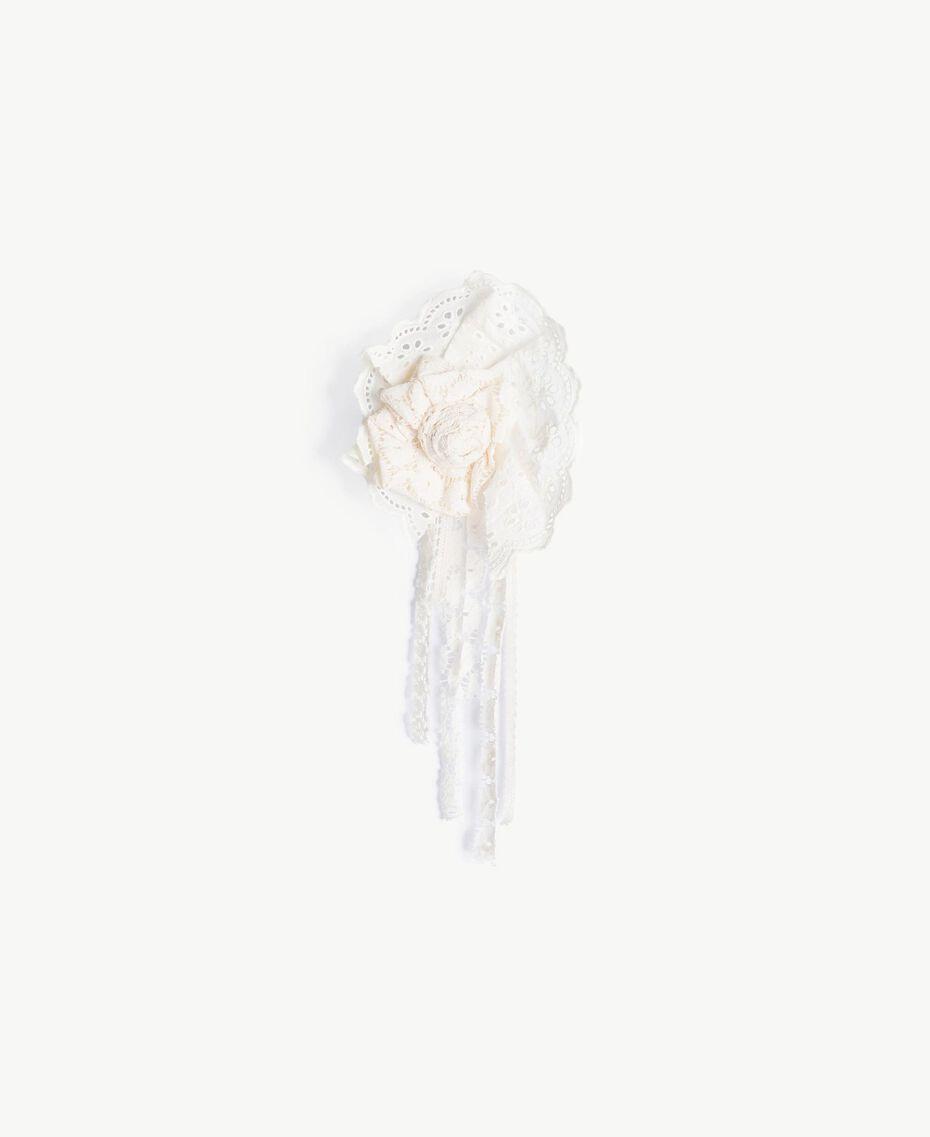 Robe dentelle Bicolore Blanc Papyrus / Chantilly Enfant GS82Z3-06