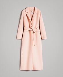 "Double wool cloth long coat ""Nude"" Beige Woman 191TP2480-0S"