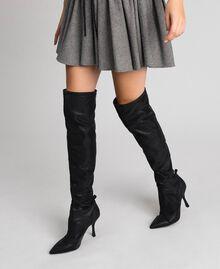 Сапоги-ботфорты на шпильке Черный женщина 192MCP036-0S