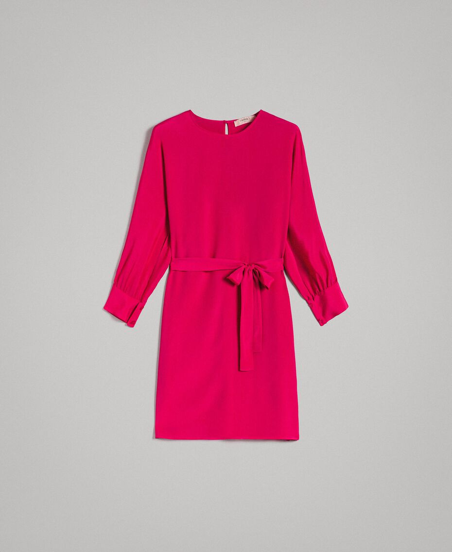 "Silk blend tunic dress ""Anemone"" Fuchsia Woman 191TP2147-0S"