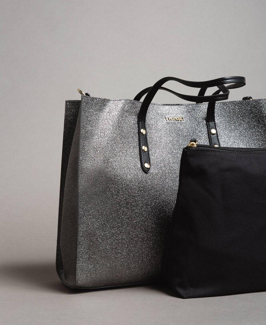 4deff36a354e Сумка-шоппер из искусственной ламинированной кожи женщина, серый | TWINSET  Milano