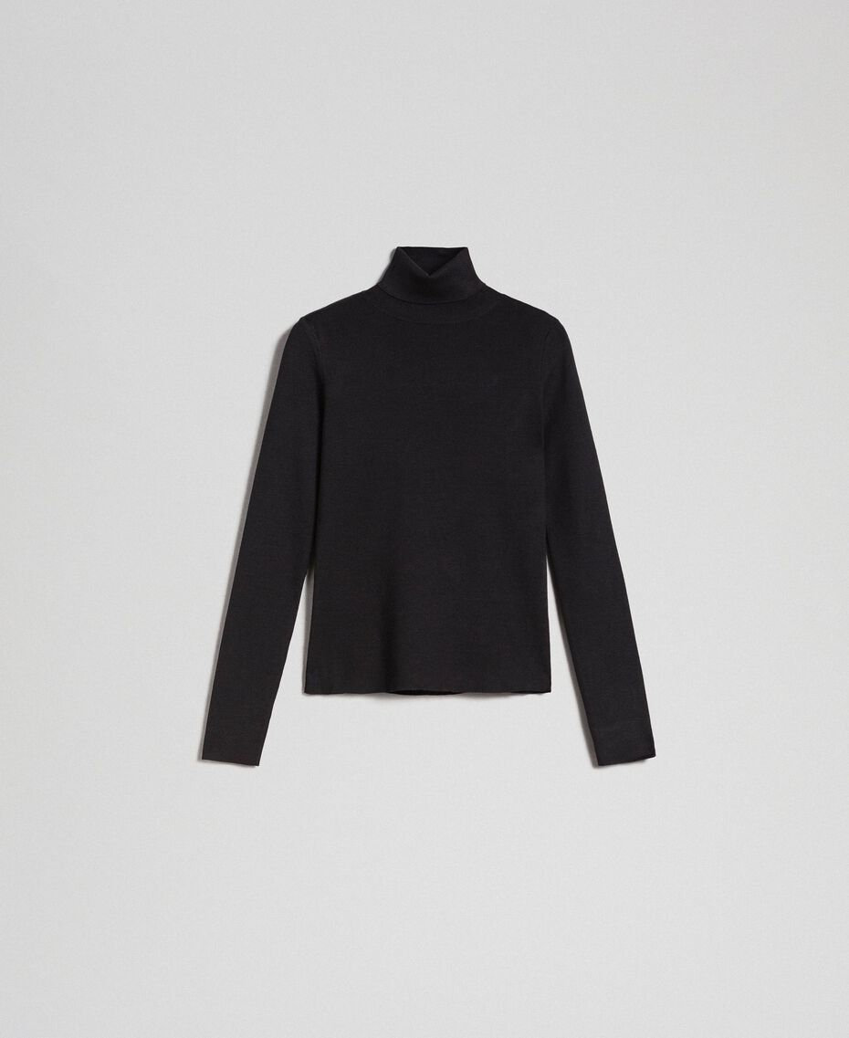 Knit turtleneck Black Woman 192MT3015-0S