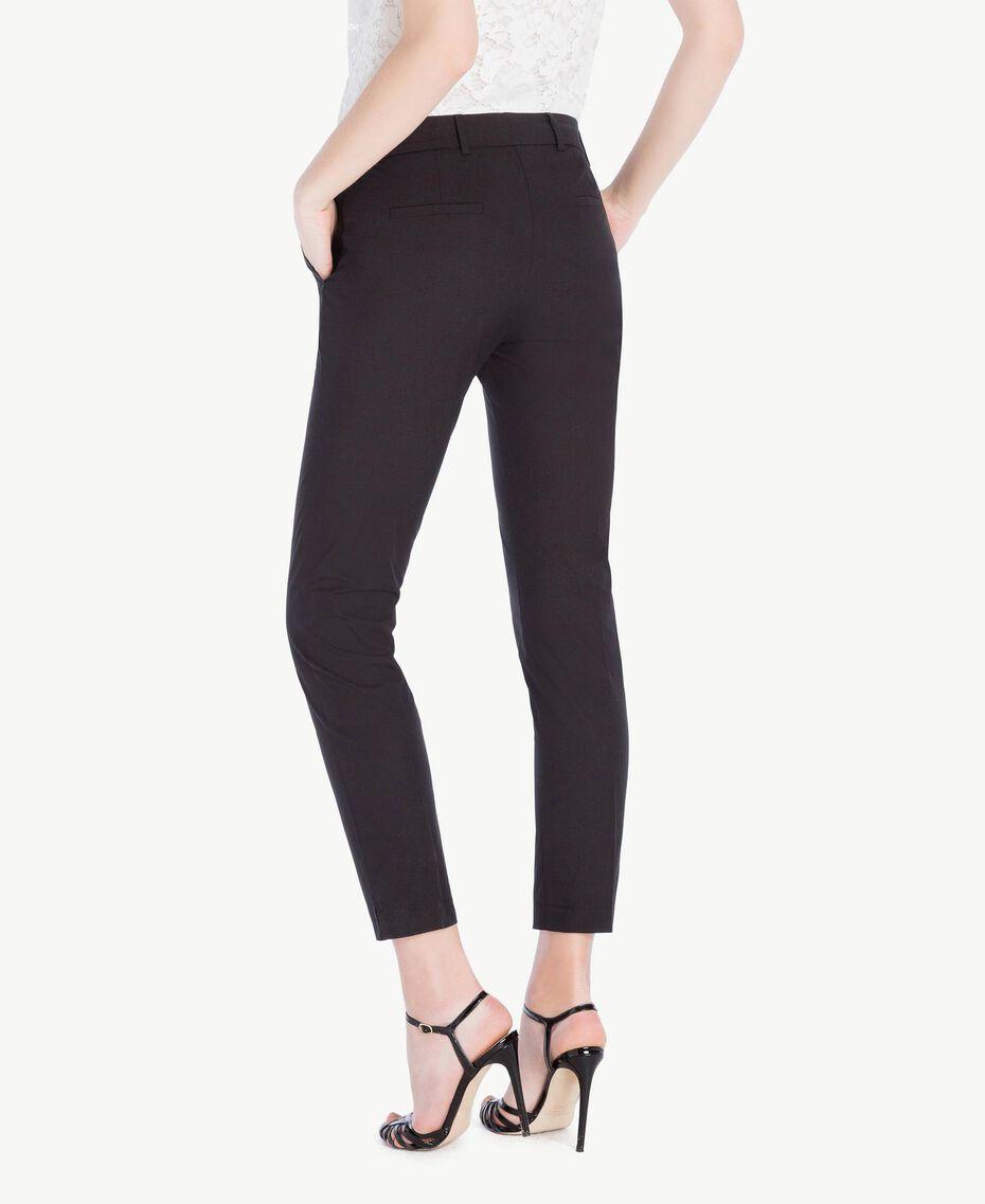 Pantalón pitillo de popelina Negro Mujer TS8213-03