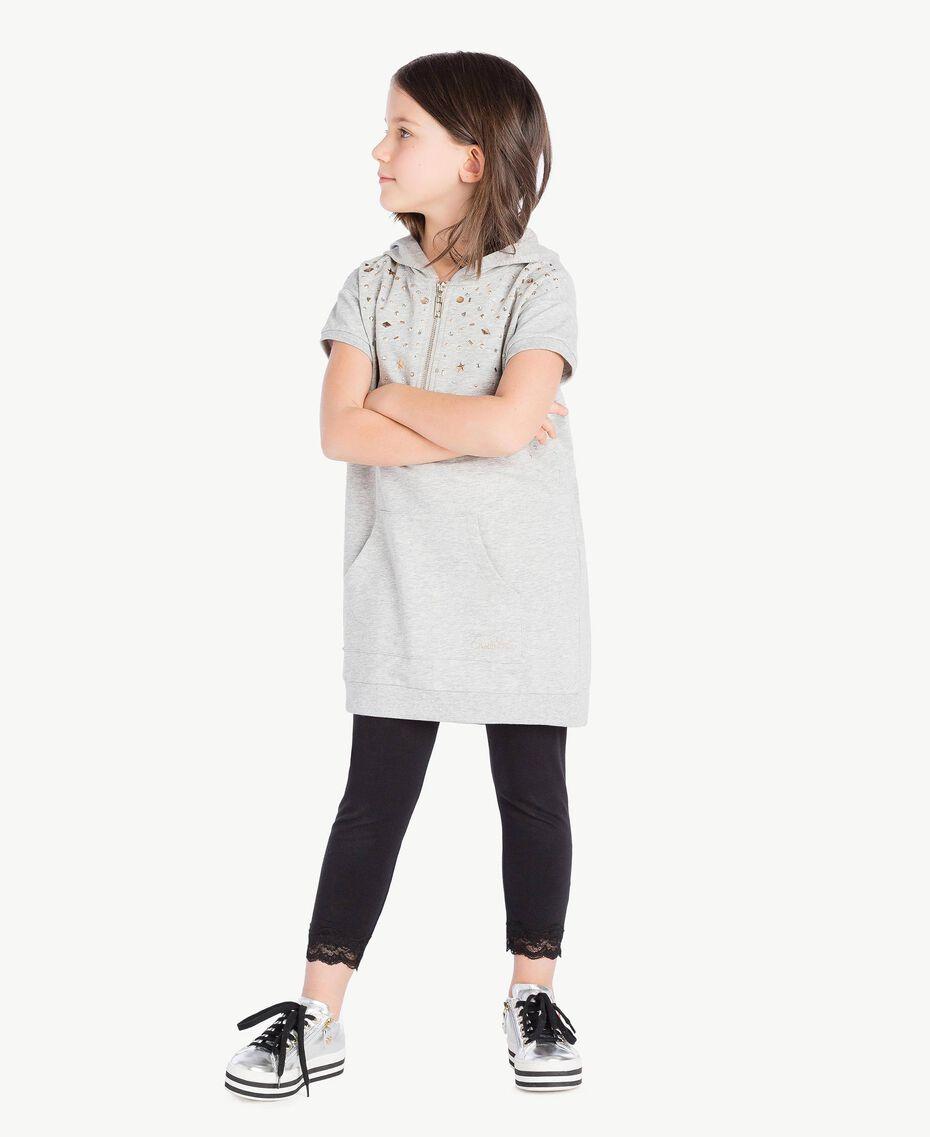 Robe clous Gris clair chiné Enfant GS82G1-02