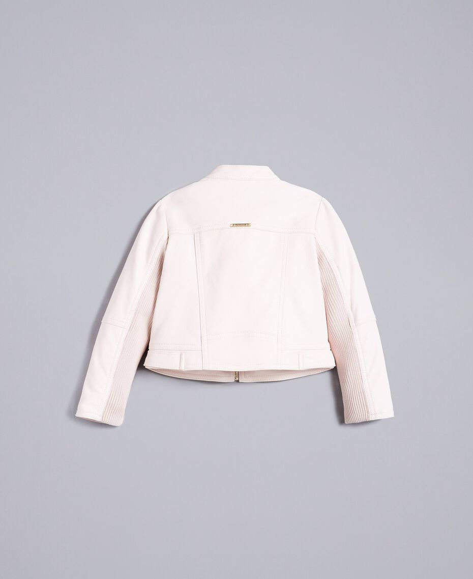 "Faux leather jacket ""Blush"" Pink Child FA82BA-0S"