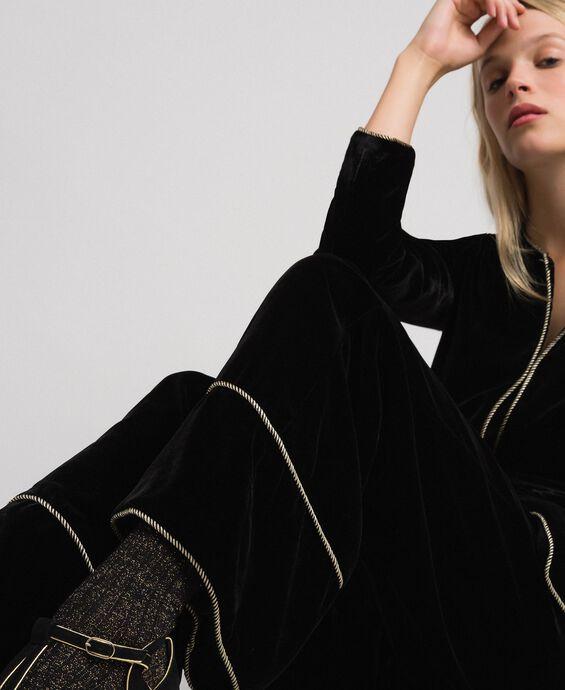 Бархатные брюки-палаццо