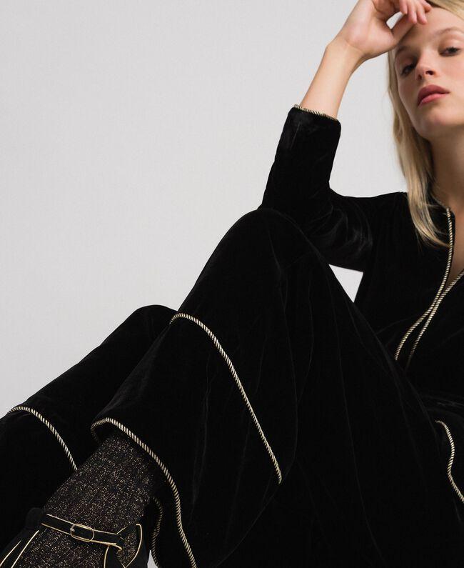 Pantalon palazzo en velours Noir Femme 192TT2425-01