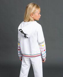 Sweatjacke mit Logoprint Schwarz Kind 999GJ2012-03