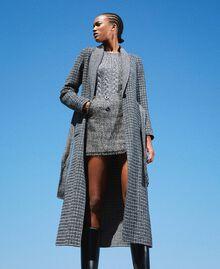 Mini-jupe en tissu bouclé avec sequins Noir Femme 202MT218B-0T