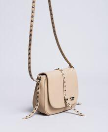 Faux leather animal print shoulder bag Turtledove Woman VA8PAG-02