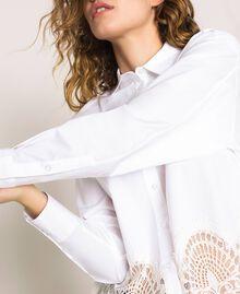 Поплиновая рубашка с кружевом Белый женщина 201TP2040-04