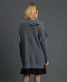 Robe ajourée en laine et cachemire Gris Mélangé Femme 192TP3200-03