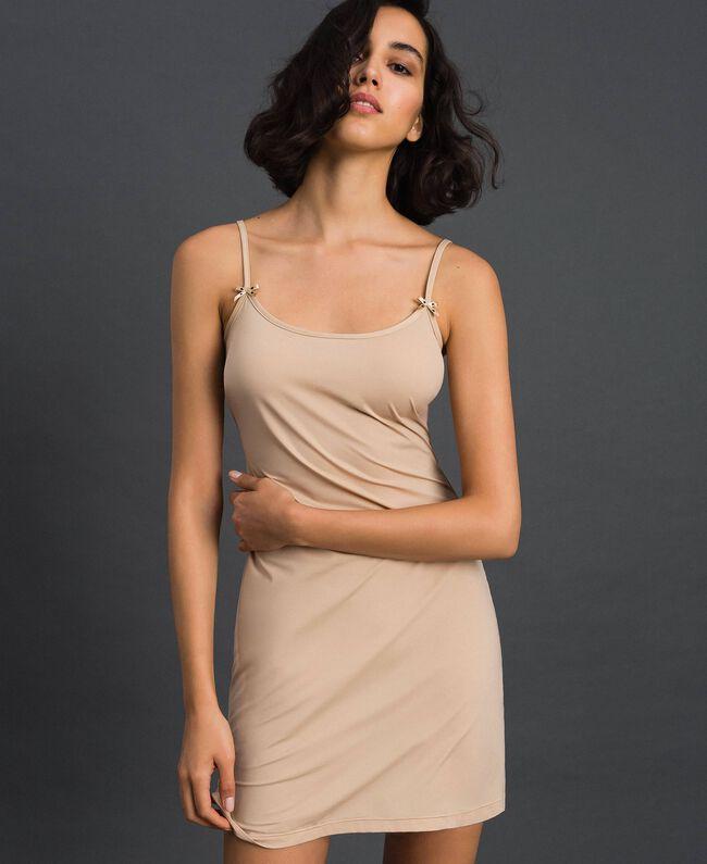 nuisette à bretelles fines Rose Skin Femme LCNNAA-01