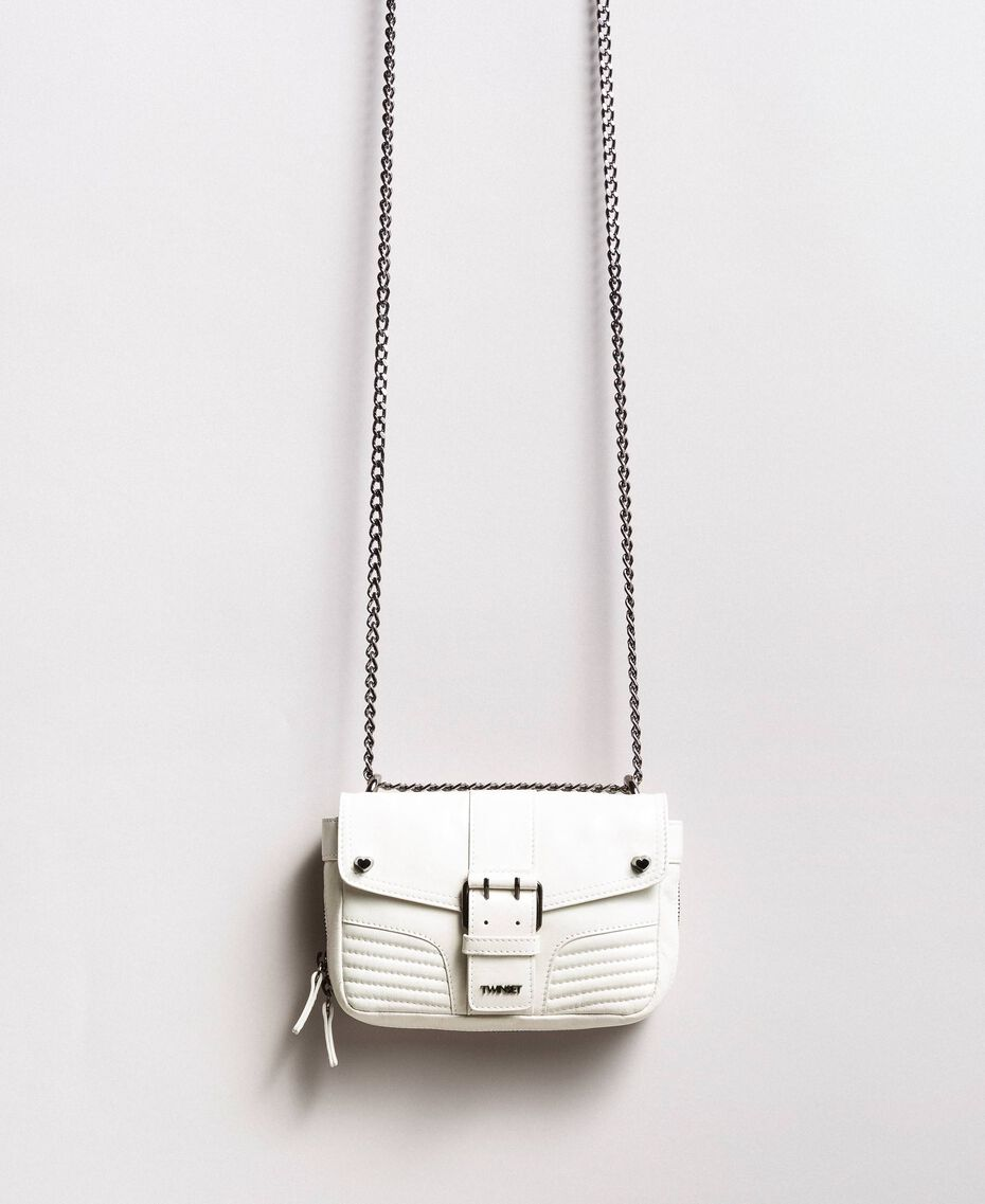 Rebel leather shoulder bag White Snow Woman 191TA7237-01
