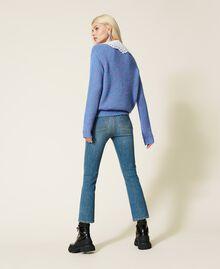 """Jeans flare 'Malachite' Blu """"Denim Medio"""" Donna 212AP2212-03"""